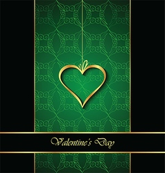 Elegant classic valentines day background vector