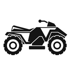 Extreme quad bike icon simple style vector