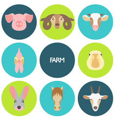 farm animals with sample vector image