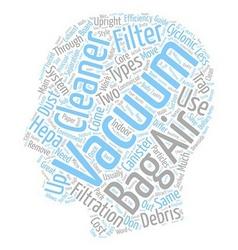 Filter Bag Vacuum Cleaners Bag Less Vacuum vector
