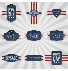 Fourth of July national Badges Set vector image