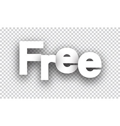 Free paper sign vector