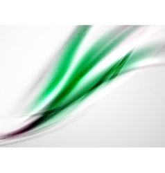 Futuristic green color in wave template vector image