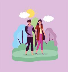 happy friendship day flat design vector image