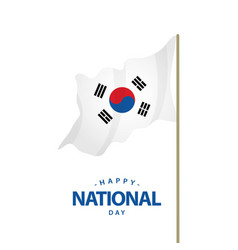 happy korea republic national day template design vector image
