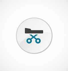 Hospital bed icon 2 colored vector