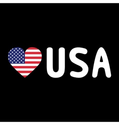 I LOVE USA5 vector image