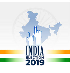 indian election 2019 banner design vector image