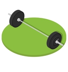 Isometric Gym barbell vector