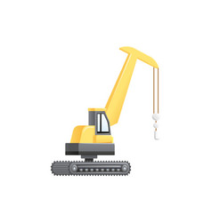 Lifting crane vehicle construction vector