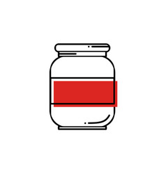 Line oil solvent jar icon vector