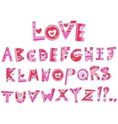 love alphabet vector image