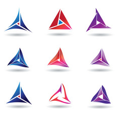 Modern triangle concept design template vector
