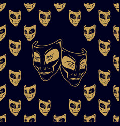New pattern 0210 theatrical mask vector