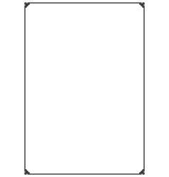 Paper design vintage style page border vector