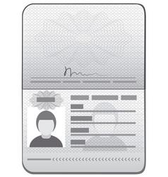 Passport id template vector