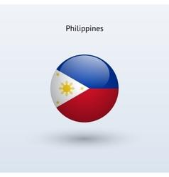 Philippines round flag vector