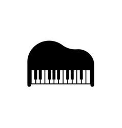 piano icon design template isolated vector image
