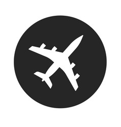 plane icon shape or airplane jet silhouette vector image