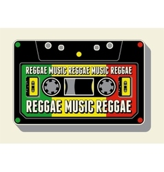 Reggae music retro typographical poster vector image