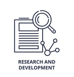 research and development line icon concept vector image