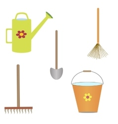 set of gardening tools vector image