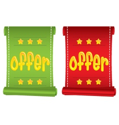 Set of two business promotion banners with OFFER t vector image