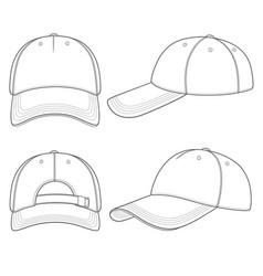 set with a baseball cap vector image