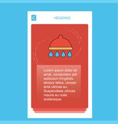 shower mobile vertical banner design design vector image