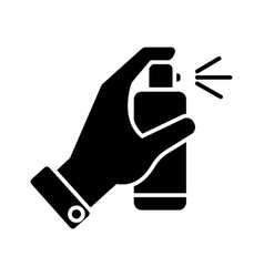 Spray bottle in hand icon vector