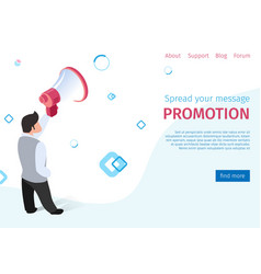 spread your message promotion on social networks vector image