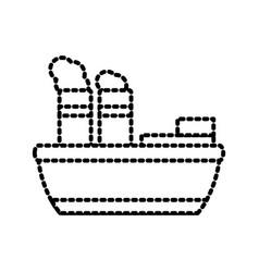 steam boat ship vector image