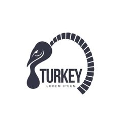 Stylized abstract side view turkey graphic logo vector