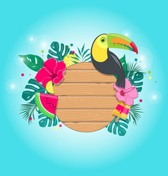 Summer tropical composition in vector