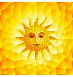 Sun face vector