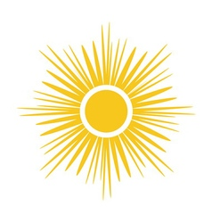 Sun icon Light yellow white background isolated vector image
