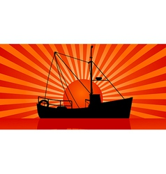 sunset at sea vector image