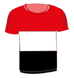 T-shirt flag yemen vector