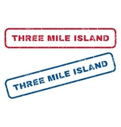 Three Mile Island Rubber Stamps vector