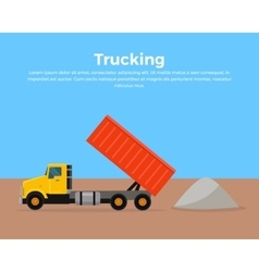 Trucking Banner Flat Design vector image