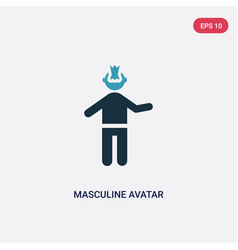 Two color masculine avatar icon from people vector