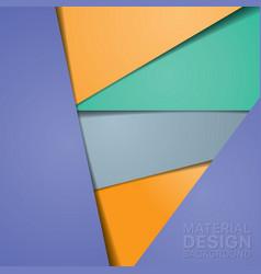 Unusual modern material design background vector