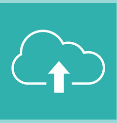 upload icon with cloud and arrow vector image
