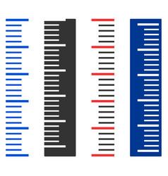 vertical meter ruler vector image