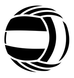 volleyball icon simple black style vector image