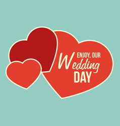 wedding design icom ilstration vector image
