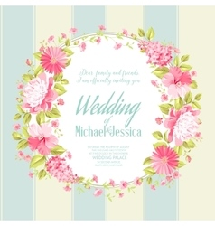 Wedding invitation card with custom text vector