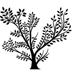 Whole black tree vector
