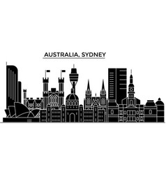 australia sydney architecture city skyline vector image