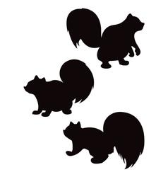 cartoon squirrel silhouettes vector image vector image